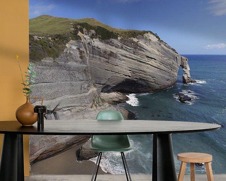 Beispiel fototapete: Cape Farewell, Neuseeland von Jeroen van Deel