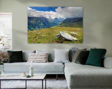 Landschap in de bergen bij Grimentz von Dennis van de Water