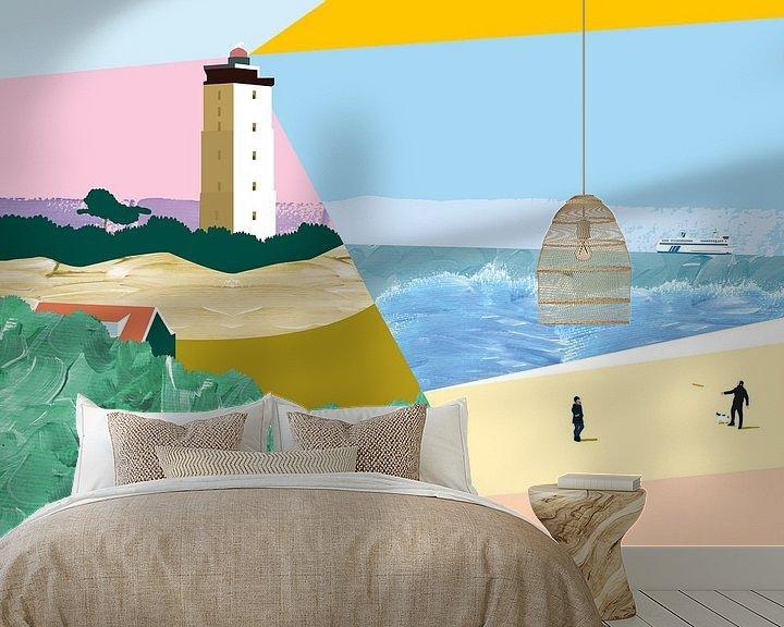 Sfeerimpressie behang: Terschelling 01 van Suzanne Allewelt