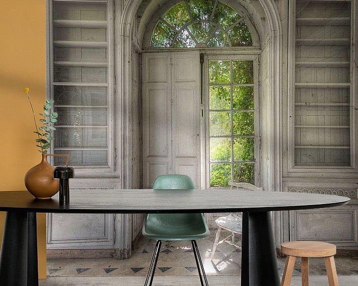Beispiel fototapete: Urbex - Stuhl von Angelique Brunas