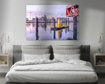 De Rijnhaven op een januari-ochtend