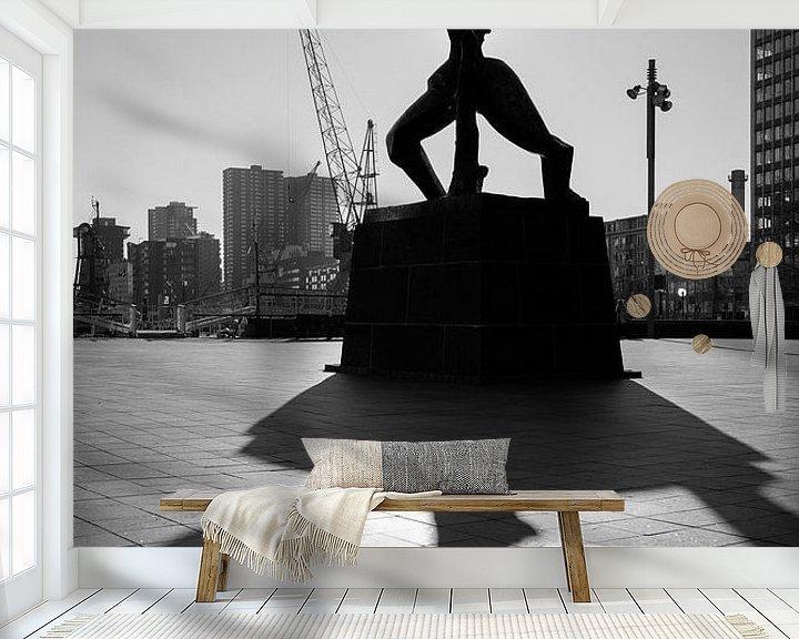Beispiel fototapete: De verwoeste stad Rotterdam von Rob van der Teen