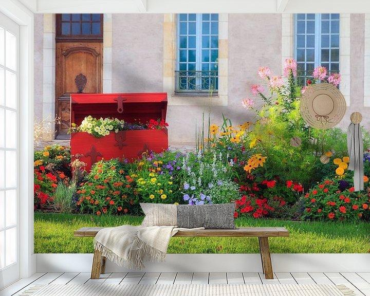 Beispiel fototapete: Een schatkist vol bloemen in Frankrijk von Dennis van de Water