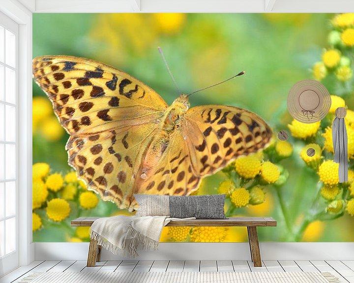 Sfeerimpressie behang: Vlinders van Carla Eekels