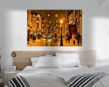 Leiden winter van Frans Nijssen