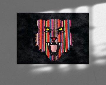 Kleurrijke tijgerkop von Gerrit Neuteboom