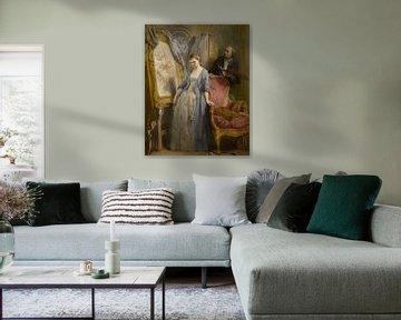 Träumerei einer jungen Künstlerin, Gustave Wappers
