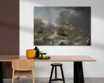 Schiffe im Sturm, Jan Porcellis
