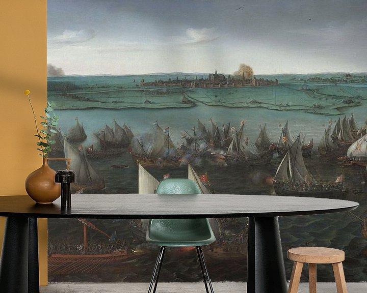 Impression: Battle between Dutch and Spanish Ships on the Haarlemmermeer, Hendrick Cornelisz Vroom