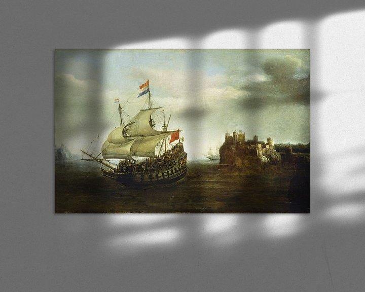 Impression: A Castle with a Ship Sailing Nearby, Hendrick Cornelisz Vroom