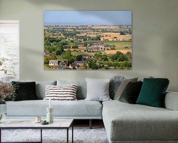 Platteland Bretagne vanuit de lucht von Dennis van de Water