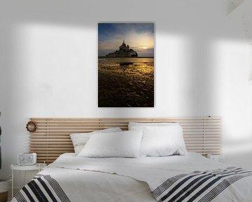 Mont Saint-Michel verticaal vanaf het wad van Dennis van de Water
