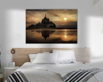 Duister Mont Saint-Michel van Dennis van de Water