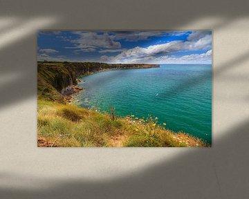Kustlijn van Normandië bij Pointe du Hoc van Dennis van de Water