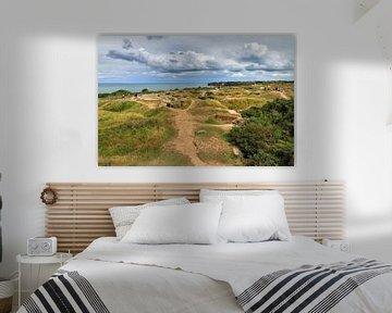De duinen van Pointe du Hoc Normandië van Dennis van de Water