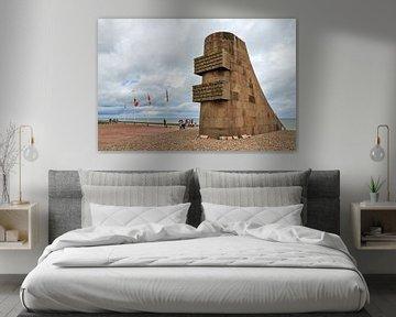 Monument Omaha Beach Normandie van Dennis van de Water