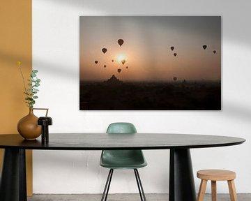 Luchtballonnen bij zonsopgang van Marja van Noort