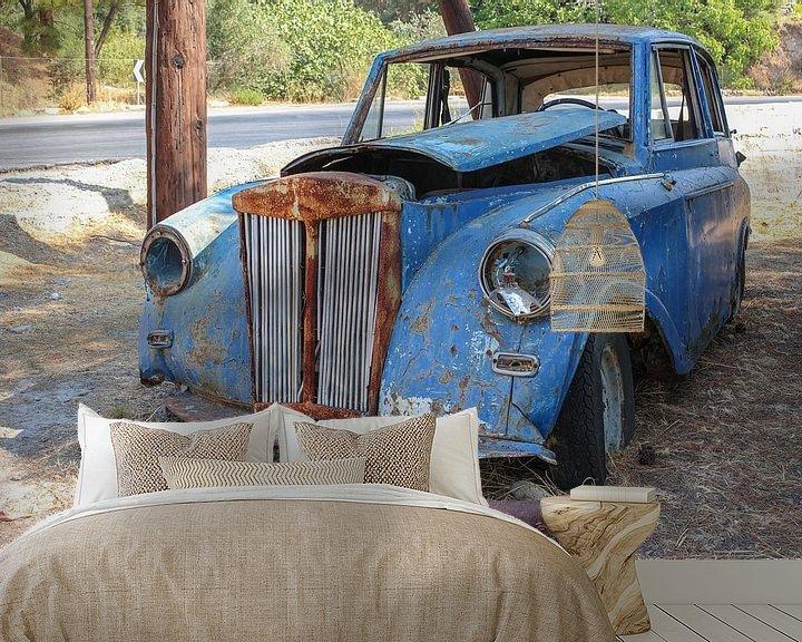 Beispiel fototapete: Verlassenes altes Auto von Patrick Löbler