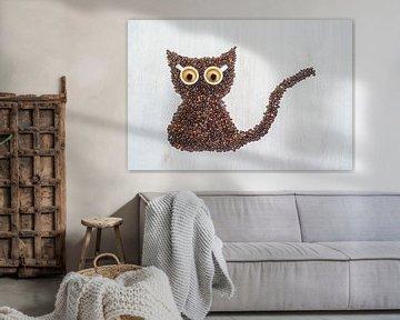 Meow, I'm a coffee cat. van Elianne van Turennout