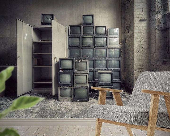 Beispiel fototapete: Urbex - TV's von Angelique Brunas