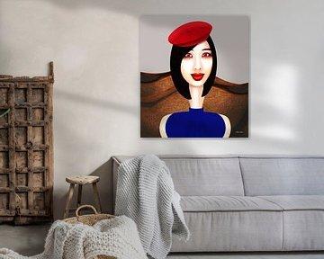 Die rote Baskenmütze von Ton van Hummel (Alias HUVANTO)