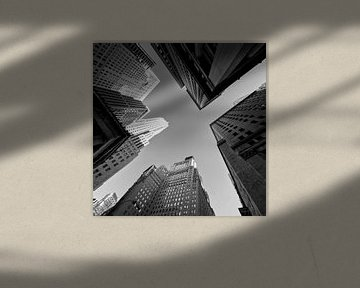 New York Hochhaus (Schwarz-Weiß) von JPWFoto