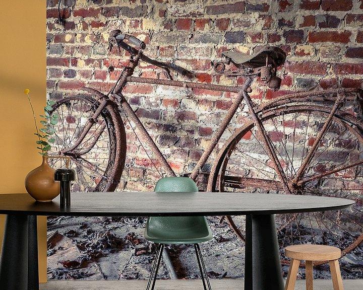 Beispiel fototapete: Altes Fahrrad in Scheune von Patrick Löbler