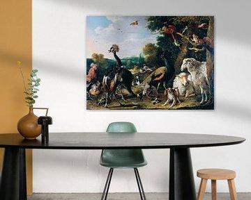 Dieren voor de Ark van Noach, Melchior d'Hondecoeter