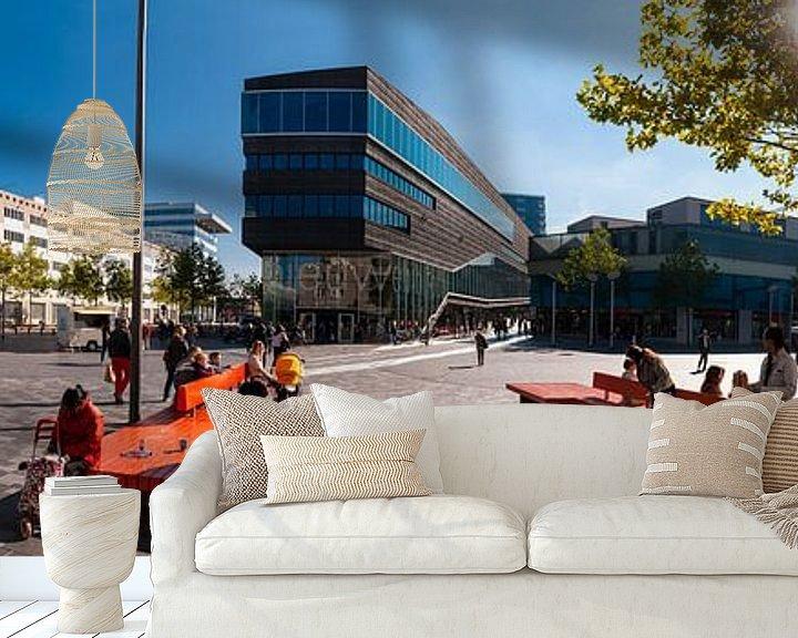 Sfeerimpressie behang: Stadhuisplein Almere van Brian Morgan