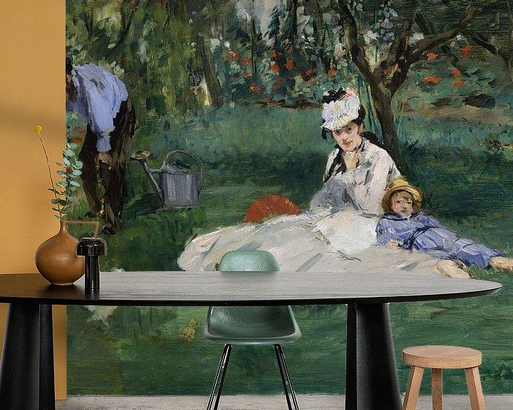 Beispiel fototapete: Die Familie Monet in ihrem Garten in Argenteuil, Édouard Manet