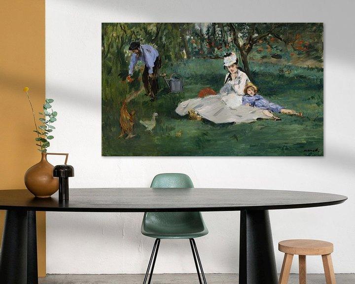 Beispiel: Die Familie Monet in ihrem Garten in Argenteuil, Édouard Manet