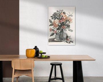 Glasvase mit Blumen