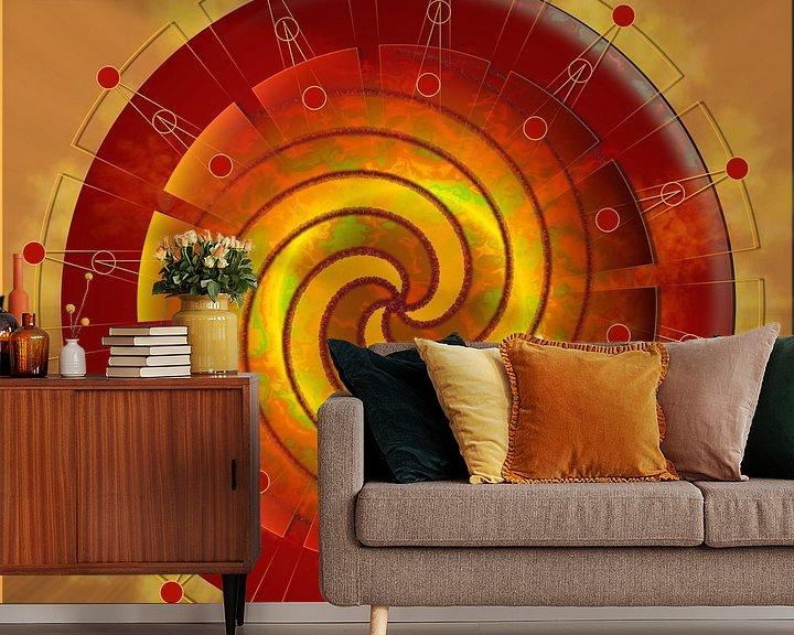 Sfeerimpressie behang: Stuitchakra van Shirley Hoekstra