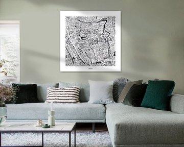 Karte von Utrecht als map mit Straßennamen von Vol van Kleur