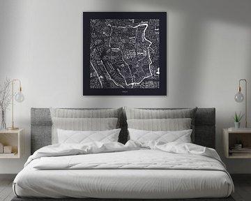 Karte von Utrecht  centrum mit Straßennamen von Vol van Kleur