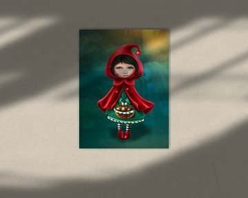 Roodkapje basic - mail je foto voor een persoonlijk tintje sur Anouk Muller - Funqy Wall Art