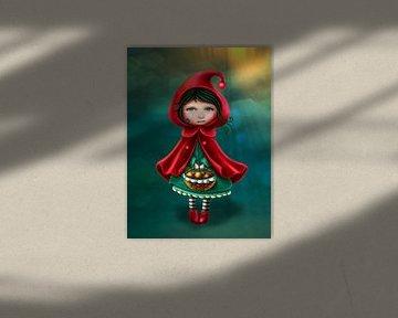 Roodkapje basic - mail je foto voor een persoonlijk tintje von Anouk Muller - Funqy Wall Art
