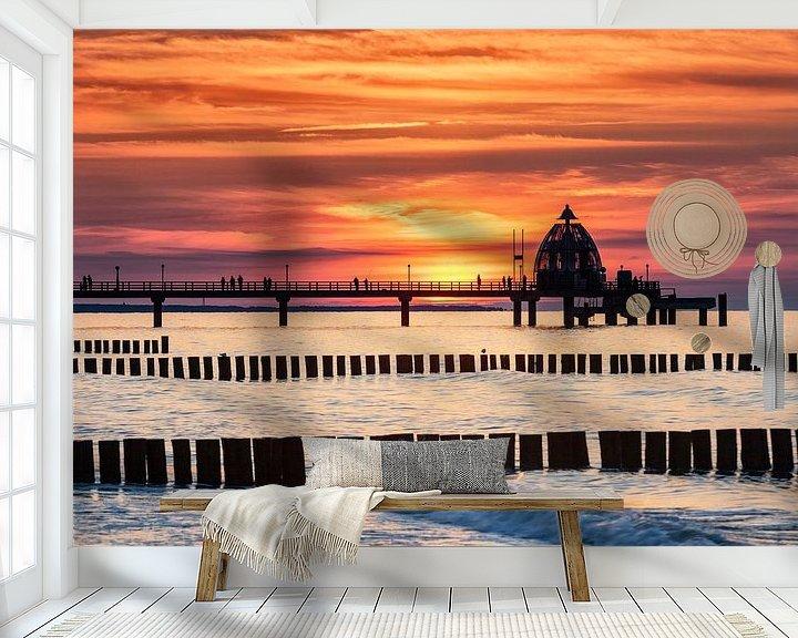 Beispiel fototapete: Seebrücke Zingst im Abendrot von Tilo Grellmann   Photography