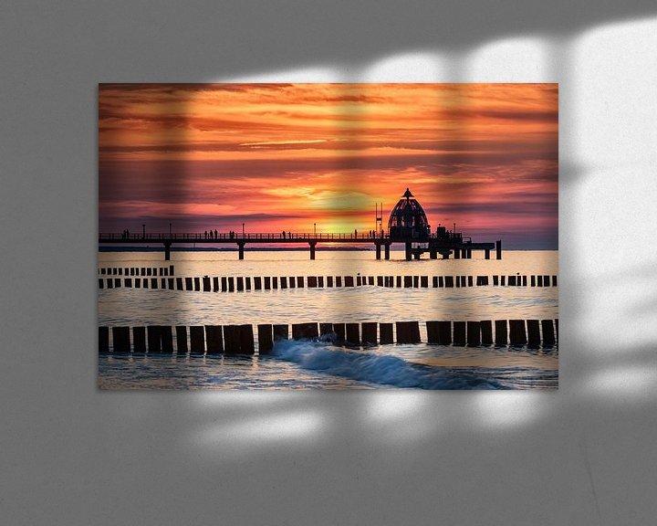 Beispiel: Seebrücke Zingst im Abendrot von Tilo Grellmann   Photography
