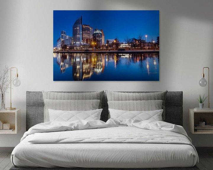 Sfeerimpressie: Skyline Den Haag van Tom Roeleveld