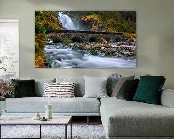 Wasserfall Latefossen, Norwegen
