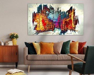 Burning city von PictureWork - Digital artist