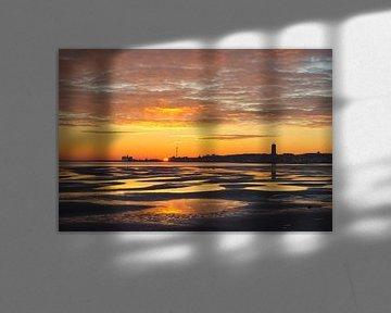 Silhouette van West-Terschelling van Albert Wester Terschelling Photography