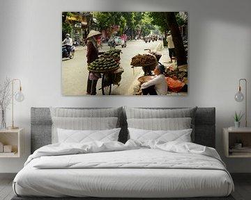 Typisch Vietnamees straatbeeld van Zoe Vondenhoff
