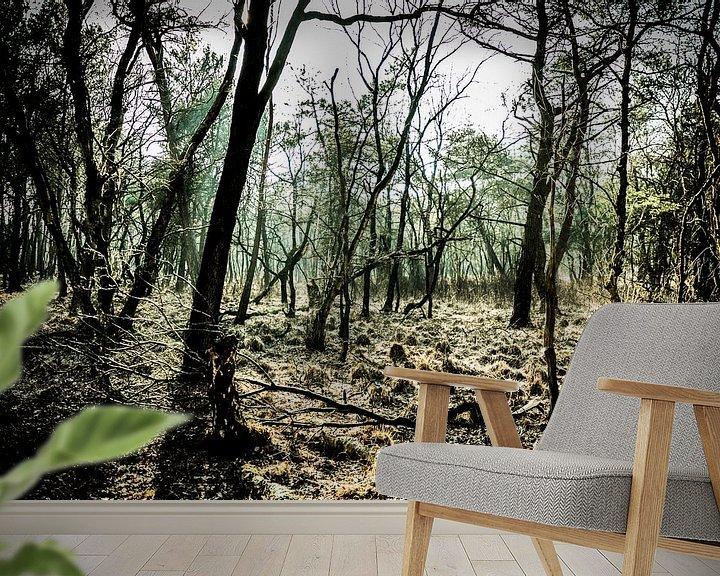 Sfeerimpressie behang: People in the Forest van Joep Oomen