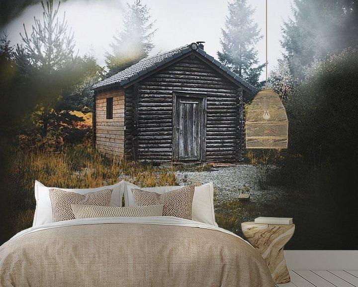 Sfeerimpressie behang: Cabin in the woods van Bryan Venken