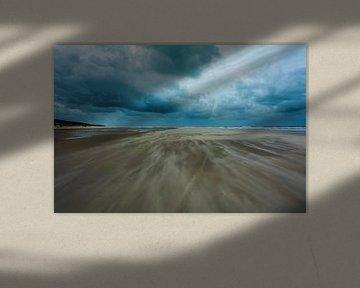 Vlieland Strand wind van Danny Leij