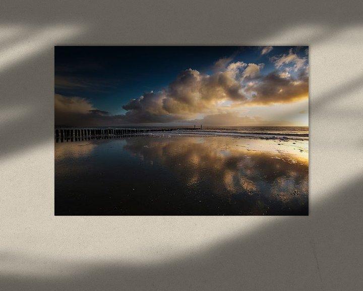 Impression: Vents d'hiver (coucher de soleil Zoutelande) sur Thom Brouwer
