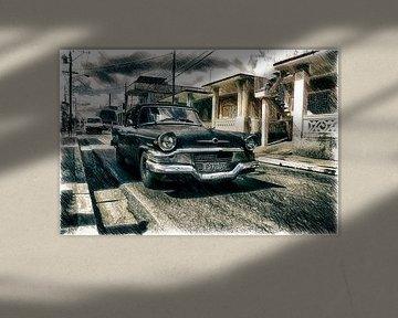 Schwarze Limousine in Trinidad von Andre Sinzger