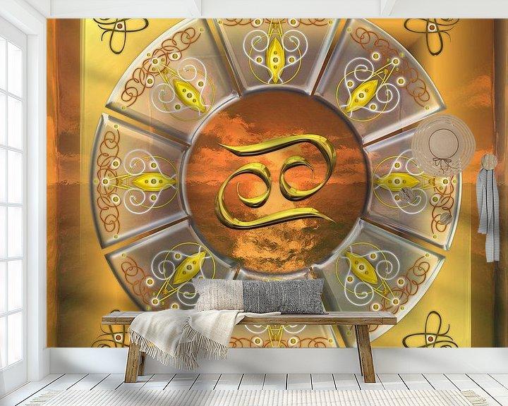 Sfeerimpressie behang: Sterrenbeeld Kreeft van Shirley Hoekstra